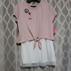 Dress w/shirt attached